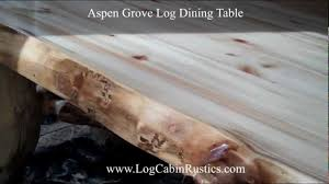 Log Dining Room Tables Rustic Table Farmhouse Dining Table Aspen Log Table