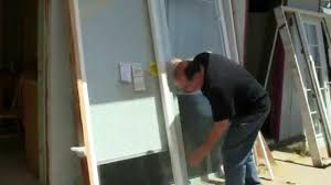 sliding glass door installation how to install a sliding glass door youtube