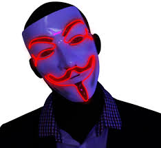red v for vendetta el wire led mask u2013 kandi gear