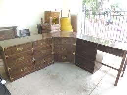 vintage corner campaign desk 285
