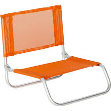 orange siege siege plage en aluminium basic orange 12489