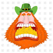 leprechaun gold in mouth crazy dwarf for st patrick u0027s day
