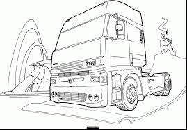 stunning diesel truck coloring pages with semi truck coloring