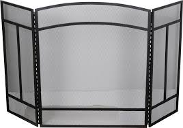 black 3 panel fireplace screen princess auto