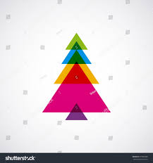 abstract tree triangle shape stock vector 675902968