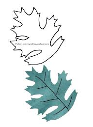 printable leaf patterns for applique quilting crafts or clipart