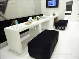 Nail Bar Table Station White Color New Design Nail Technician Station Counter Table For