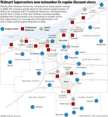 Walmart Map Walmart Supercenters Now Outnumber Regular Walmart Stores Poll