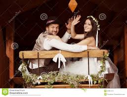 bride and groom country style wedding stock photo image 35897570