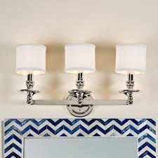 Bath Lighting Springfield Linen Shade Bath Light 3 Light Shades Of Light