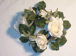 flower candle rings budget wedding party rental llc silk flowers