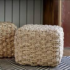 Seagrass Storage Ottoman Seagrass Ottoman From Lawson Fenning