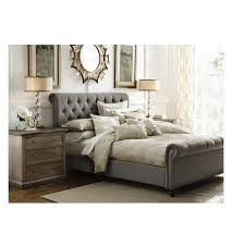 Linen Bed Frame Gray Beds Headboards Bedroom Furniture The Home Depot
