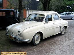 1959 renault 4cv renault dauphine black and white old but bright