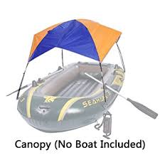 Sailboat Awning Sunshade Amazon Com Asenart Foldable Canopy For Inflatable Boat 3 Person