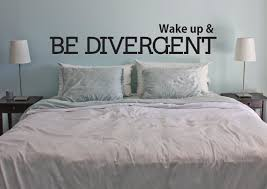 Living Room Decor Etsy Wake Up U0026 Be Divergent Vinyl Wall Art Decal Home Living