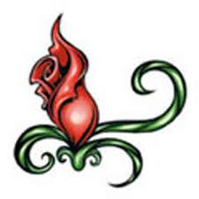 rosebud stock tattoo designs item 2342 imprintitems com