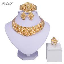wedding gold sets fani 2018 fashion dubai gold color jewelry set wholesale