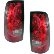 2006 silverado tail light assembly halogen tail light set for 2004 2006 chevy silverado 1500 clear red