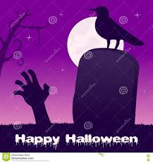 halloween zombie background halloween night headstone u0026 zombie hand stock vector image 77553973
