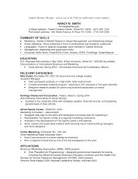 Resume Examples For College by Good Resume Sample Resume Business Business Intelligence Resume