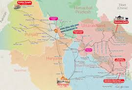 Map Of Punjab India by Hemkunt Sahib Yatra Map Hemkund Sahib Travel Map Travel To