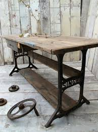 Unique Console Tables Rustic Industrial Console Table With Singer Legs Rustic Living