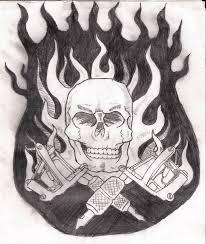 tattoos of skulls and guns cool tattoos bonbaden