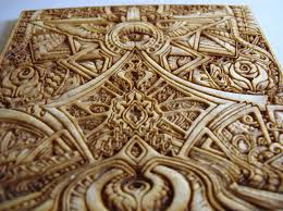 laser creative 3d laser engraved print in wood for