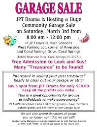 garage sale march 2012 flyer coral springs talk