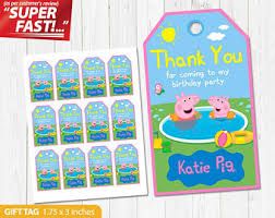 peppa pig pool party etsy