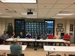 Football Conference Table Hrn At 2017 Independence Bank Border Bowl Press Conference