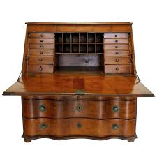 Secretary Desk With Hutch by 19th Century Swiss Drop Leaf Secretary Desk And Chest Secretary