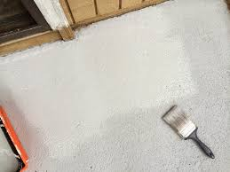 Concrete Floor Sweeping Compound by How I Made My Patio Look New Again With Olympic Rescue It