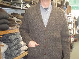 men u0027s irish sweaters men u0027s shawl collar handknit cardigan