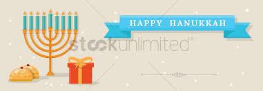 hanukkah banner happy hanukkah banner vector image 2021126 stockunlimited