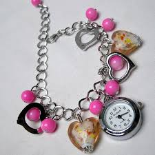 charm bracelet online images Buy charm bracelet with watch for women online best prices in gif