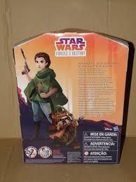 star wars l shade wars forces of destiny princess leia ewok new in original packaging