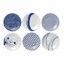 assiette de porcelaine set de 6 assiettes à dessert 16 cm en porcelaine pacific royal