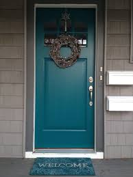 Colors For Front Doors Teal Front Door Use Gray Shutters On The Brick House Too Lovely