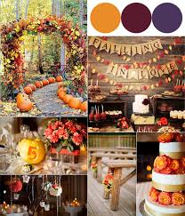 Sangria Colored Wedding Decorations Fall Wedding Colour Combinations 2014 Burgundy Orange And