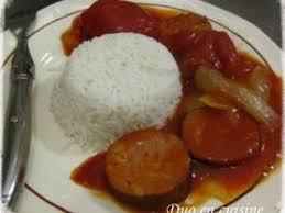 cuisiner saucisse de morteau rougail saucisse à la saucisse de morteau recette ptitchef