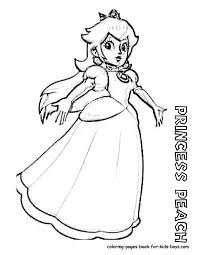 princess peach coloring pages princess peach coloring page free