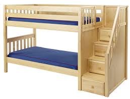 Bunk Beds And Mattress Low Bunk Bed With Stairs In Countryside Design Bedroom