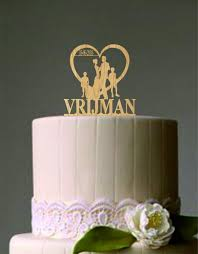 wedding cake topper with dog or cat same wedding cake
