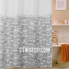 Shower Curtains Unique Unique House Patterned Cheap Waterproof Black And White Shower