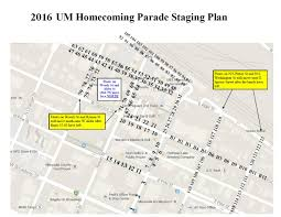 Map Of Missoula Montana by Parade Lineup Order Homecoming 2017 University Of Montana