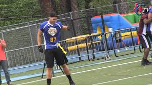 Charlotte Flag Football Blake Griffin And The Clippers Show Off Their Football Skills