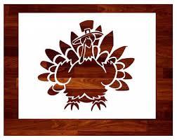 thanksgiving stencil etsy