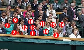 who s who in the royal box at wimbledon daily mail